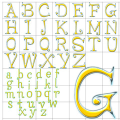 abc alphabet background fancy face design