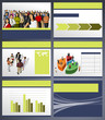 Yellow and blue business Template. Vector illustration.