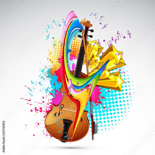Fotobehang Muziek Color of Music