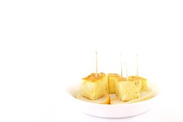 Pinchos de tortilla.