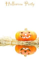 Calabaza de halloween para fiesta.