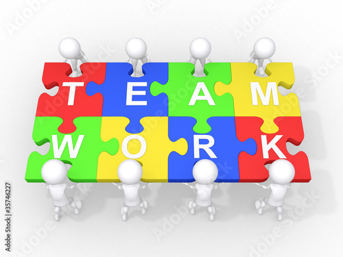 Concept of teamwork, leadership, cooperation,...