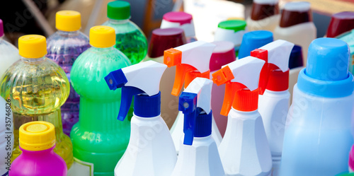 canvas print picture chemical products for cleaning chores