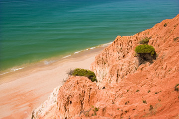 beautiful beach at algarve, the south of portugal