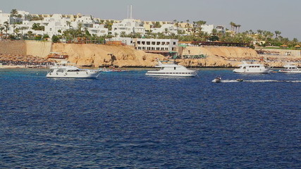Boats at coast of Red sea
