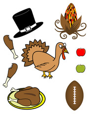 Thanksgiving Theme! Vector / clip art