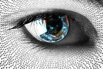 Earth in the eye