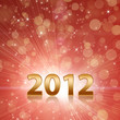Year 2012 celebrate red abstract background