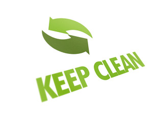 keep clean recycling sign icon