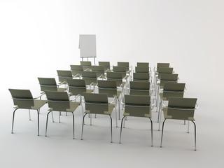 Sala riunione con lavagna