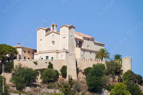 San Salvador Church on a hill in the town of Arta in Mallorca