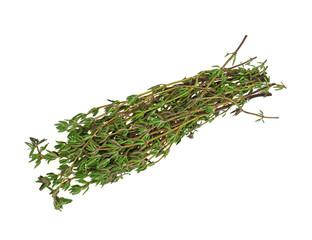 Fresh Thyme Herbs Overhead View