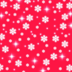 cchristmas snowflakes and stars illustration