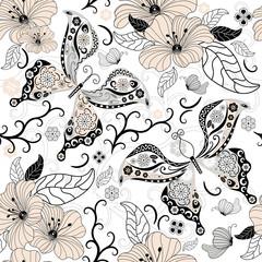 Gentle repeating floral pattern
