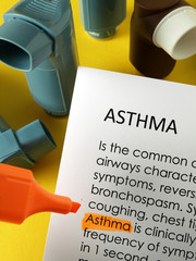 'Asthma' highlighted in orange