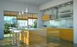 Küchendesign - Küche orange weiss