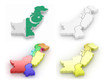 Three-dimensional map of Pakistan