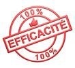 """""""100% Efficacité"""" Cachet (rouge)"""