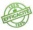 """100% Efficacité"" Cachet (vert)"