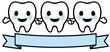 歯のキャラクター(3本)