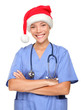 Happy holidays christmas nurse