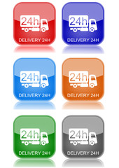 "Delivery 24H  ""6 buttons of different colors"""
