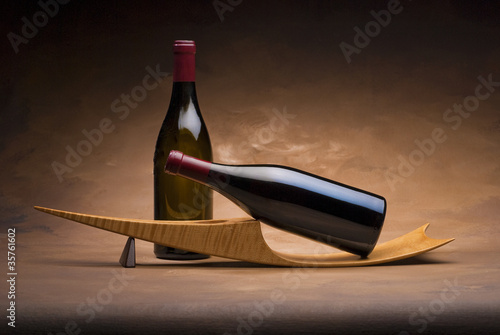 Wine bottles on stand - 35761602