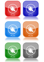 "Plug  ""6 buttons of different colors"""