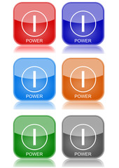 """Power  """"6 buttons of different colors"""""""