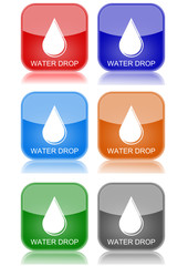 "Water drop ""6 buttons of different colors"""