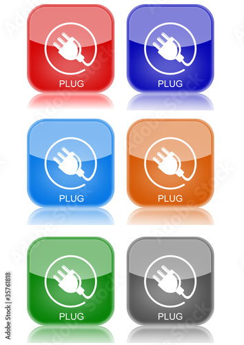 """Plug  """"6 buttons of different colors"""""""