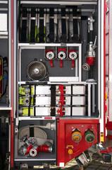 Gerätefach im Feuerwehrauto