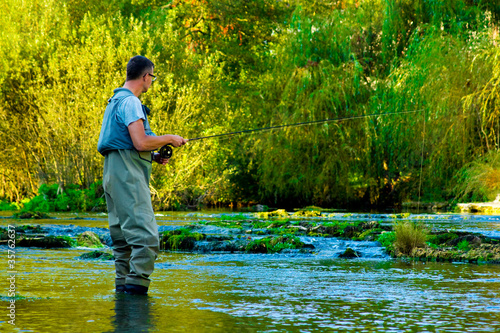 Fly Fisherman Fishing