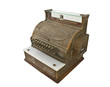 Old Brass Cash Register