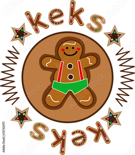 keks & keks gingerbread button