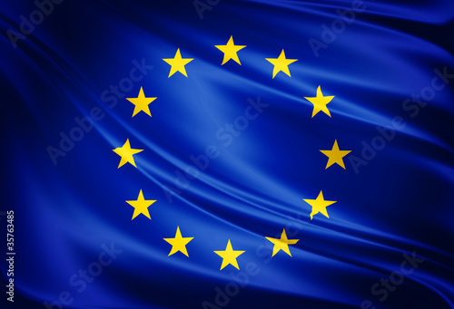 Leinwanddruck Bild Flag of european union