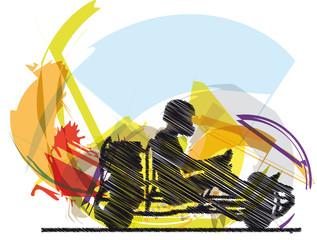 Sketch of kart race