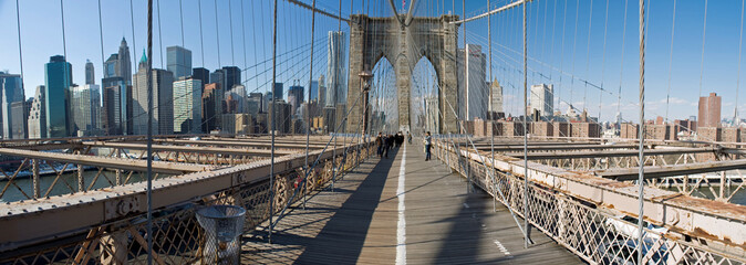 Brooklyn Bridge pedestrian lane, New York