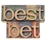 best bet in letterpress type poster
