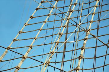 Ropes of sailing boat