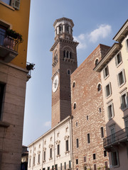 Tower in Verona a city in Northern Italy