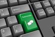 TESTIMONIALS key on keyboard (customer satisfaction feedback)