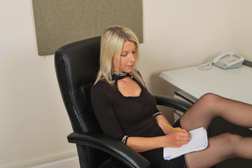 secretary taking down notes
