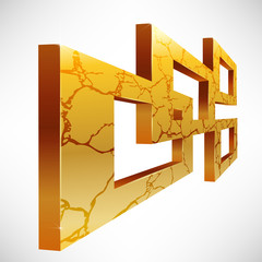 Abstract 3D Square Frames