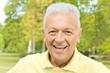 Portrait of smiling senior man in the park