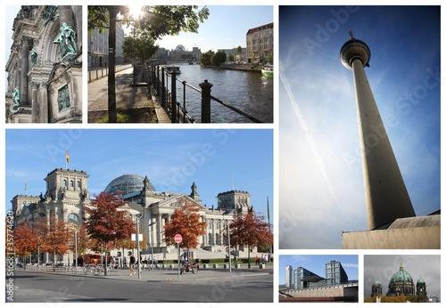 Fototapeten,berlin,collage,fernsehturm,bahnhof