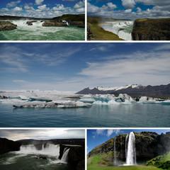 Isländisches Wasser (Collage)
