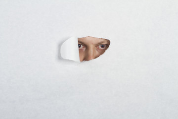 Peeking through a hole