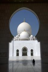 Arabian woman at Sheikh Zayed Mosque Abu Dhabi
