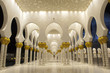 Abu Dhabi United Arab Emirates Sheikh Zayed Mosque at night - 35777010